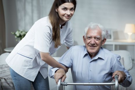 Care worker stock image